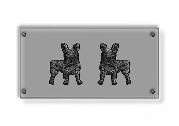 Digital Art - French Bulldogs In Black And White by Barefoot Bodeez Art