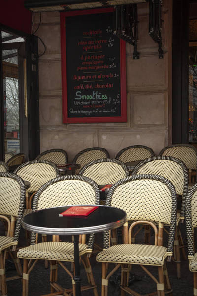 Sidewalk Cafe Photograph - French Cafe by Andrew Soundarajan