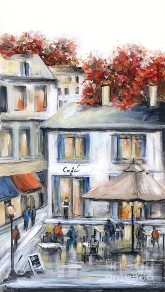 Wall Art - Painting - French Cafe by Marilyn Dunlap