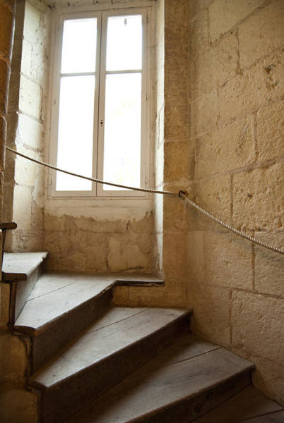 Photograph - French Castle Staircase by Jani Freimann