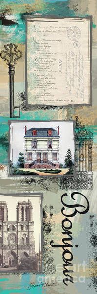 Wall Art - Digital Art - French Collage-d by Jean Plout