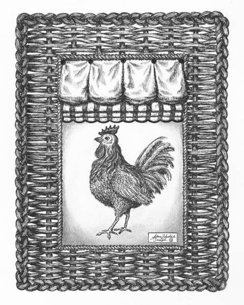 Wall Art - Drawing - French Country Rooster by Adam Zebediah Joseph