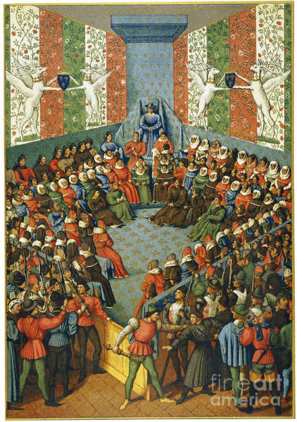 Photograph - French Court, 1458 by Granger