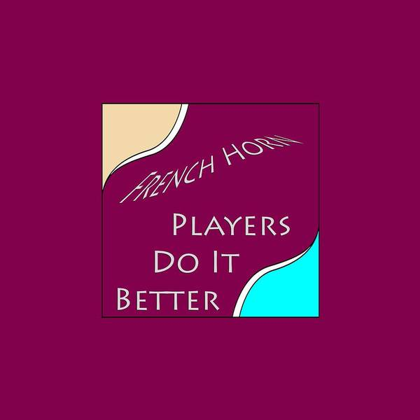 Photograph - French Horn Players Do It Better 5645.02 by M K Miller