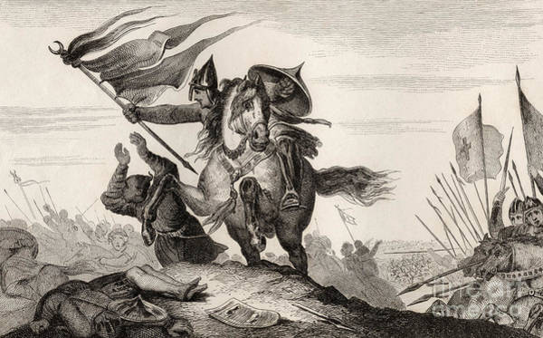 Hoof Drawing - French Knight In Battle by French School