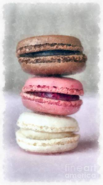Wall Art - Painting - French Macaron Pastry by Edward Fielding