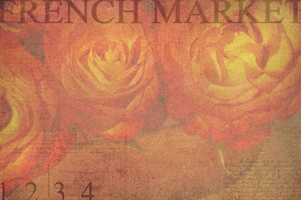 Orange Rose Photograph - French Market Series N by Rebecca Cozart
