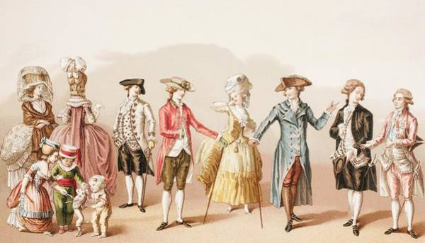 Wall Art - Drawing - French Men S Fashions During The Reign by Vintage Design Pics