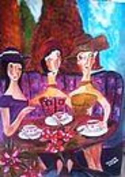 Acrilic Painting - French by Meza Vickie
