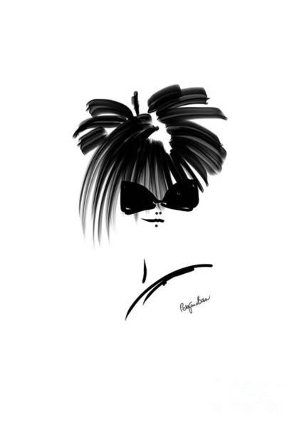 Hairdo Digital Art - French Model by Peta Brown