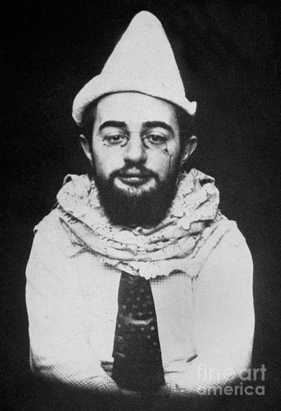 1894 Photograph - French Painter Henri De Toulouse-lautrec Dressed Up As A Clown With Footit Hat by French School