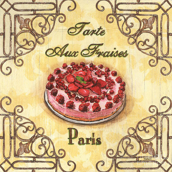 Bakery Painting - French Pastry 1 by Debbie DeWitt