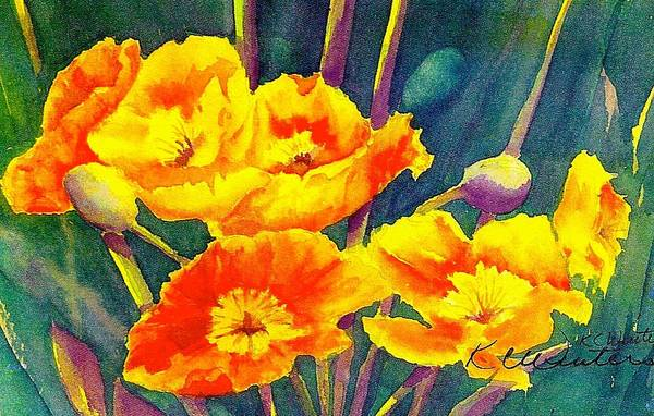 French Poppies Art Print by KC Winters