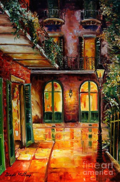 Wall Art - Painting - French Quarter Alley by Diane Millsap