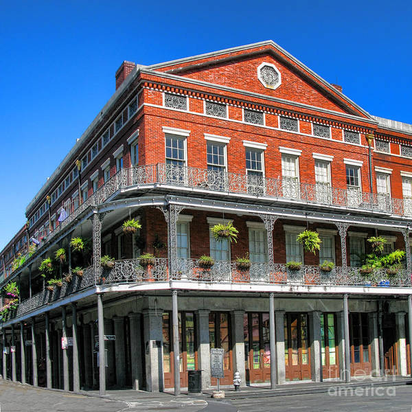 French Quarter Photograph - French Quarter Building by Olivier Le Queinec