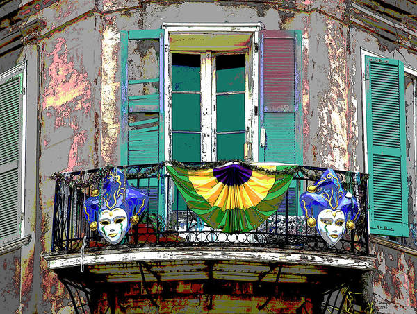 Delta Mixed Media - French Quarter by Charles Shoup