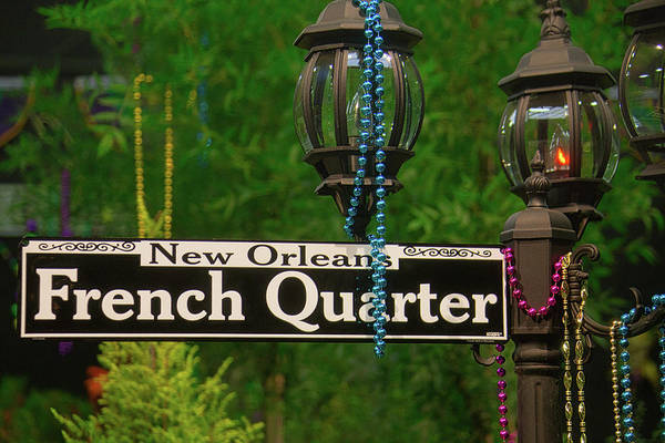 French Quarter Photograph - French Quarter Sign by Garry Gay