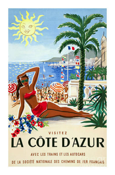 French Riviera Photograph - French Riviera Travel Poster by Jon Neidert