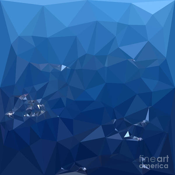 Wall Art - Digital Art - French Sky Blue Abstract Low Polygon Background by Aloysius Patrimonio