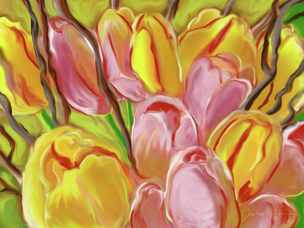 Painting - French Tulips by Jean Pacheco Ravinski