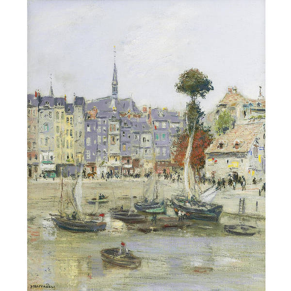 Wall Art - Painting - French View Of Honfleur by Jean Francois