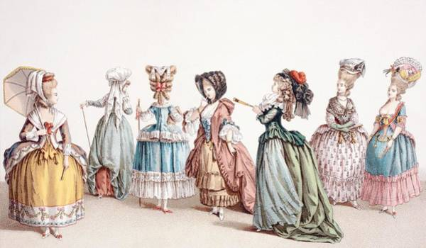 Hairdo Drawing - French Women S Fashions During The by Vintage Design Pics