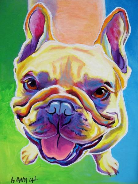 French Bulldog Painting - Frenchie - Ernest by Alicia VanNoy Call