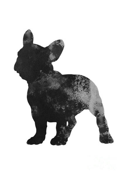 Wall Art - Painting - Frenchie Drawing Watercolor Art Print by Joanna Szmerdt