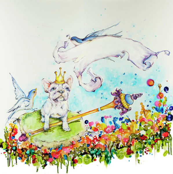 Wall Art - Painting - Frenchie Puppy Painting Called Majesty by Kim Guthrie