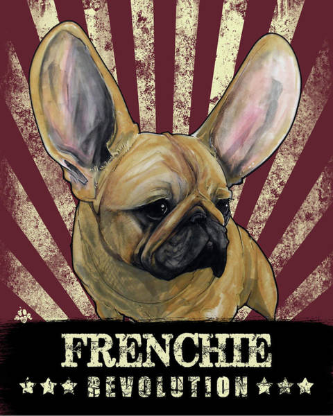 Drawing - Frenchie Revolution by John LaFree