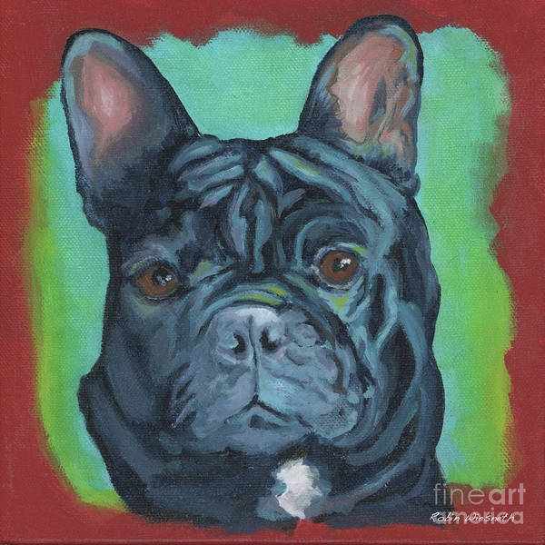 Wall Art - Painting - Frenchie by Robin Wiesneth