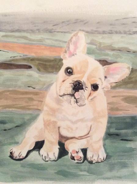 Painting - Frenchie by Sonja Jones