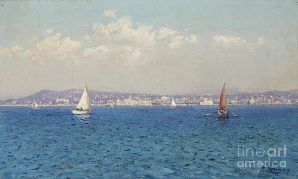Fausto Zonaro Painting - Frenchy Riviera by Celestial Images