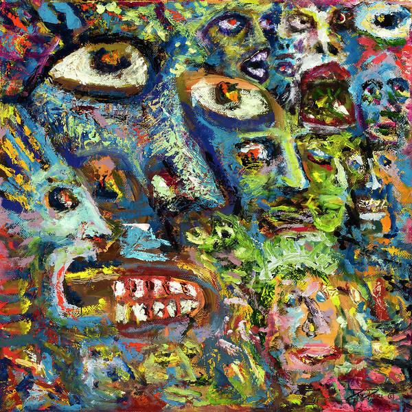 Psychosis Painting - Frenoshjim Cornsbmuel by Daniel Price
