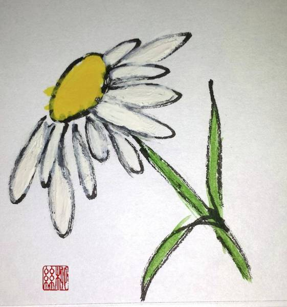 Painting - Fresh As A Daisy by Margaret Welsh Willowsilk