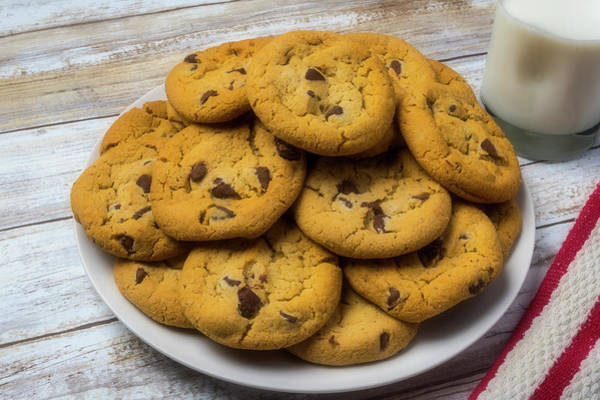 Wall Art - Photograph - Fresh Baked Chocolate Chip Cookies by Garry Gay