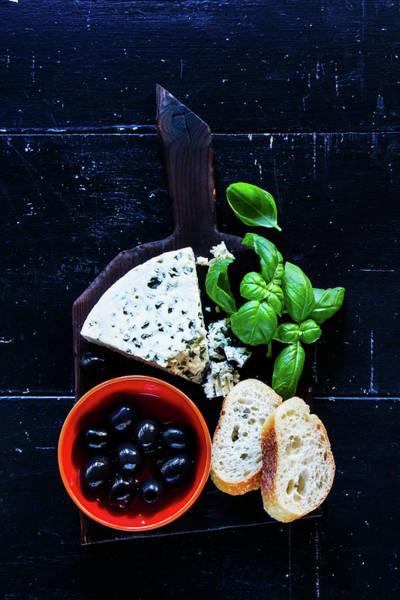Milk Farm Restaurant Photograph - Fresh Blue Cheese by Yuliya Gontar