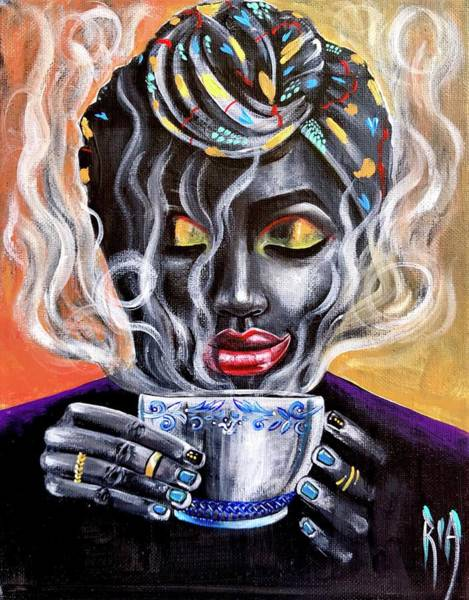 Woman Wall Art - Painting - Fresh Brewed by Artist RiA