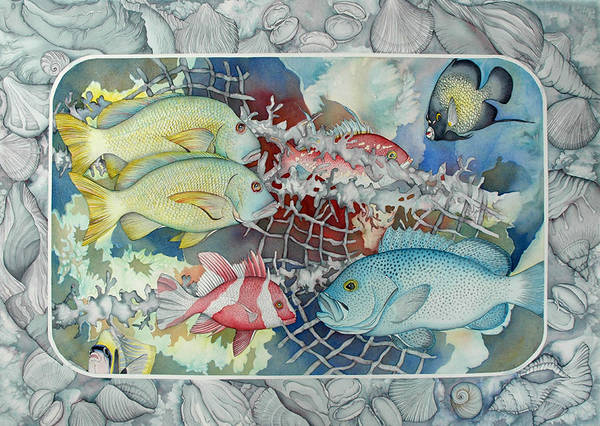 Wall Art - Painting - Fresh Catch by Liduine Bekman