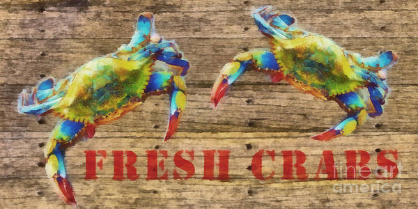 Wall Art - Painting - Fresh Crabs 2 by Edward Fielding