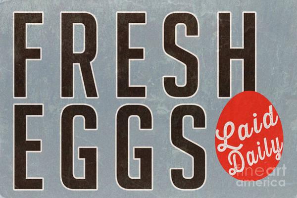 Photograph - Fresh Eggs Laid Daily Vintage Farm Decor by Edward Fielding