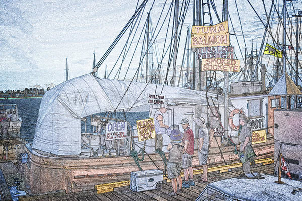 Digital Art - Fresh Fish Market by Richard Farrington