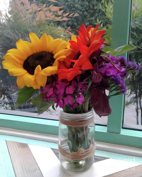 Photograph - Fresh Flowers by Gregory Dyer