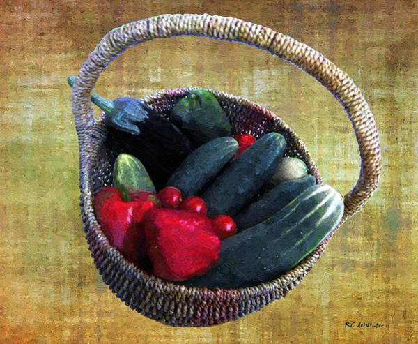Painting - Fresh From The Farmer's Market by RC DeWinter