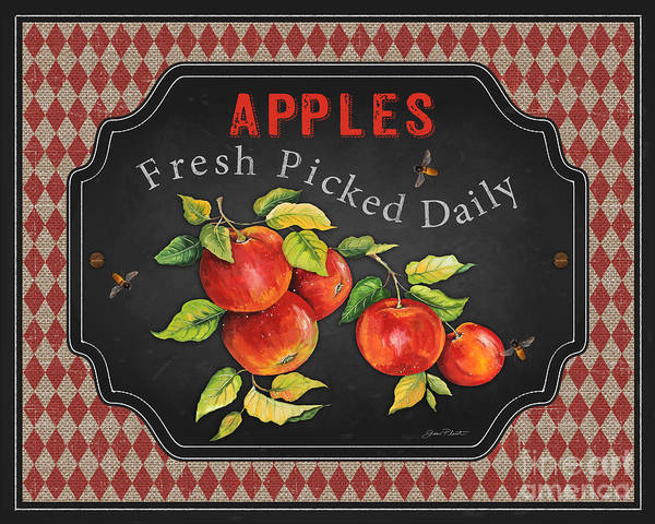 Apple Orchard Painting - Fresh Fruit-jp3738 by Jean Plout