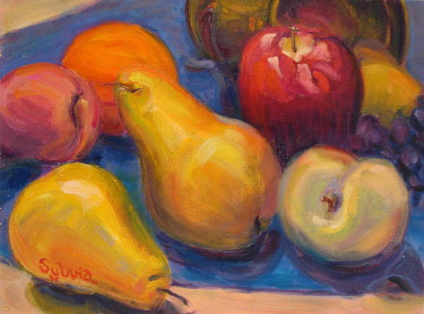 Wall Art - Painting - Fresh Fruit by Sylvia Carlton