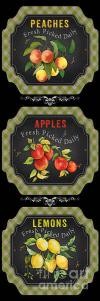 Wall Art - Painting - Fresh Fruit Trio--jp3759 by Jean Plout