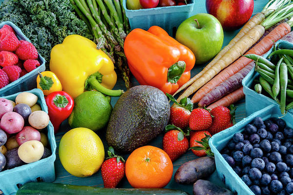 Photograph - Fresh Fruits And Vegetables by Teri Virbickis