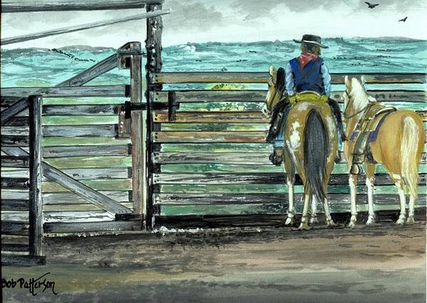 Horsemanship Painting - Fresh Horses by Bob Patterson
