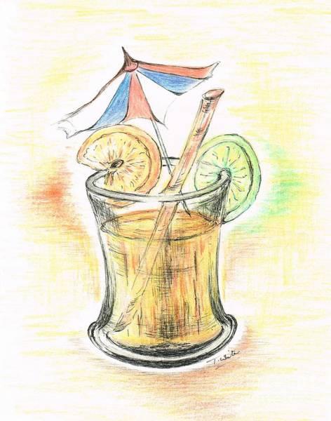 Juicy Drawing - Fresh Orange Drink  by Teresa White
